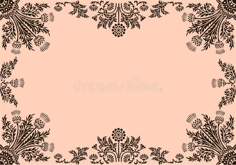 Frame met bloemenelementen royalty-vrije illustratie