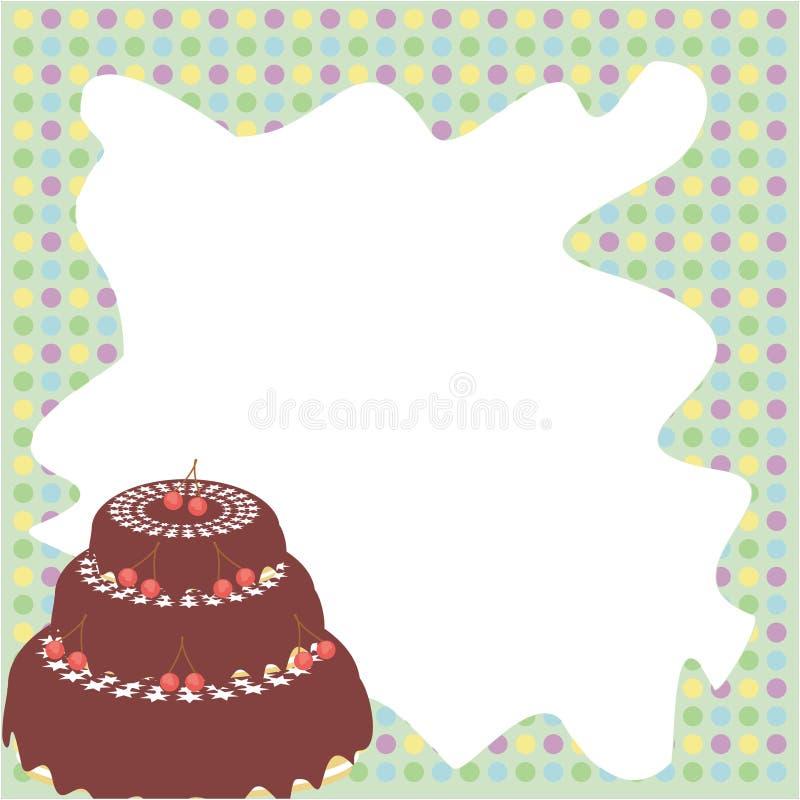 Frame met cake vector illustratie