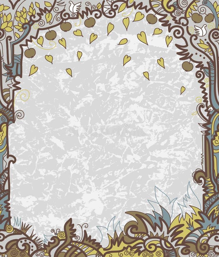 Frame met decoratieve boom royalty-vrije illustratie