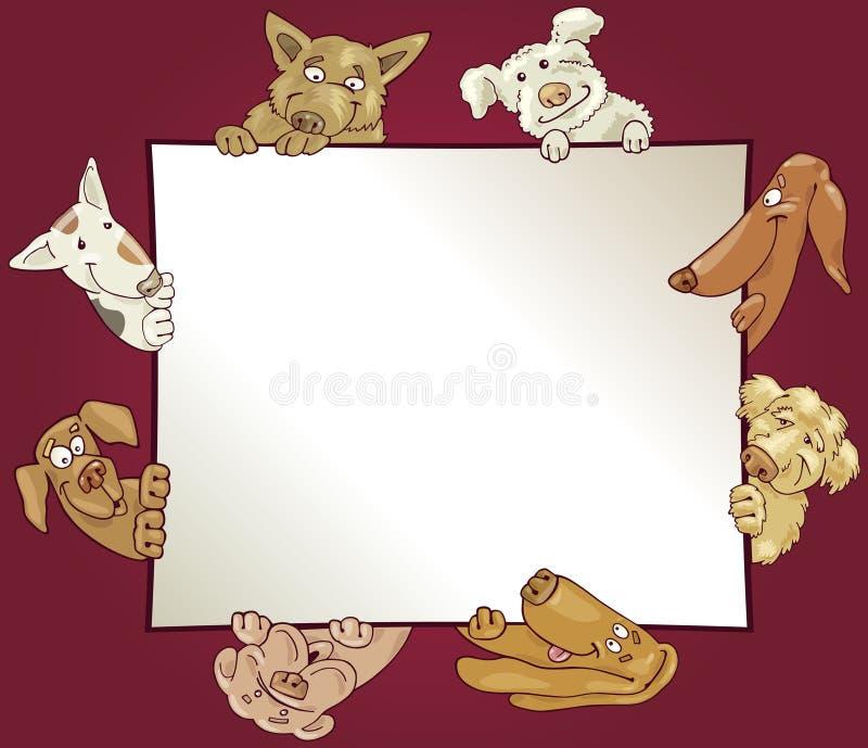 Frame met honden royalty-vrije illustratie