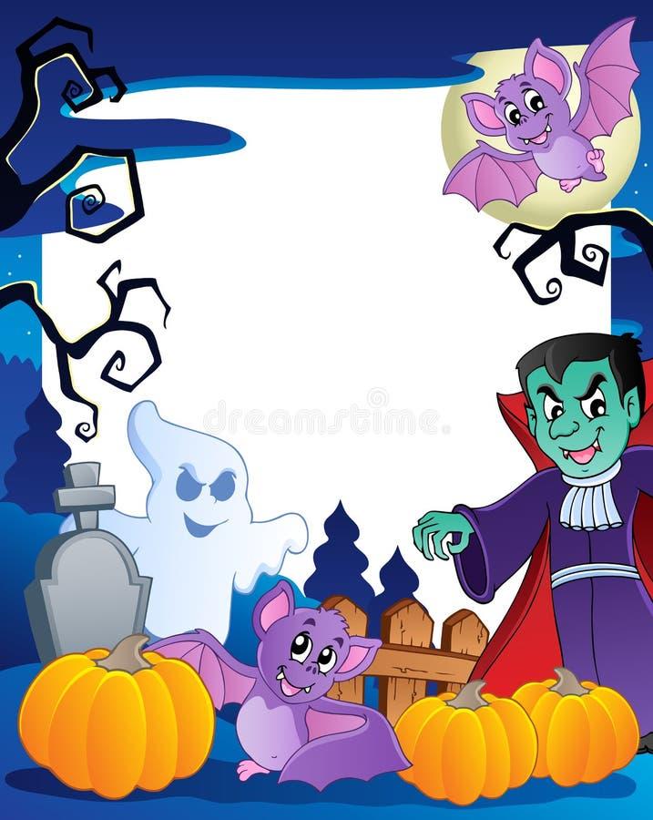 Frame met onderwerp 6 van Halloween royalty-vrije illustratie