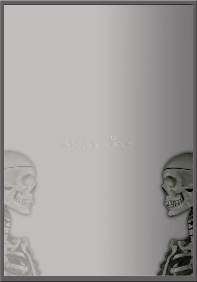 Frame met twee schedels stock illustratie