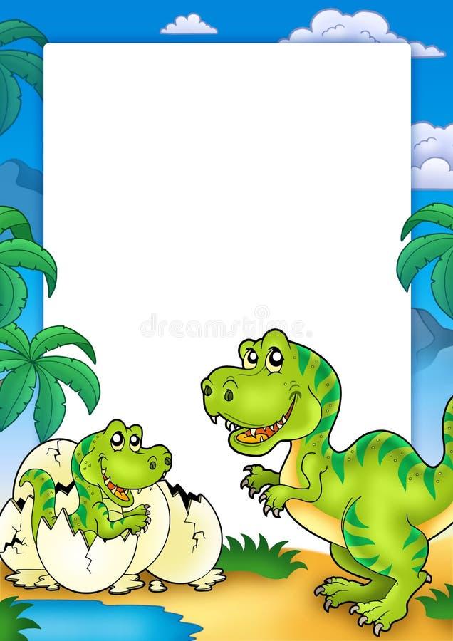 Frame met tyrannosaurussen rex royalty-vrije illustratie
