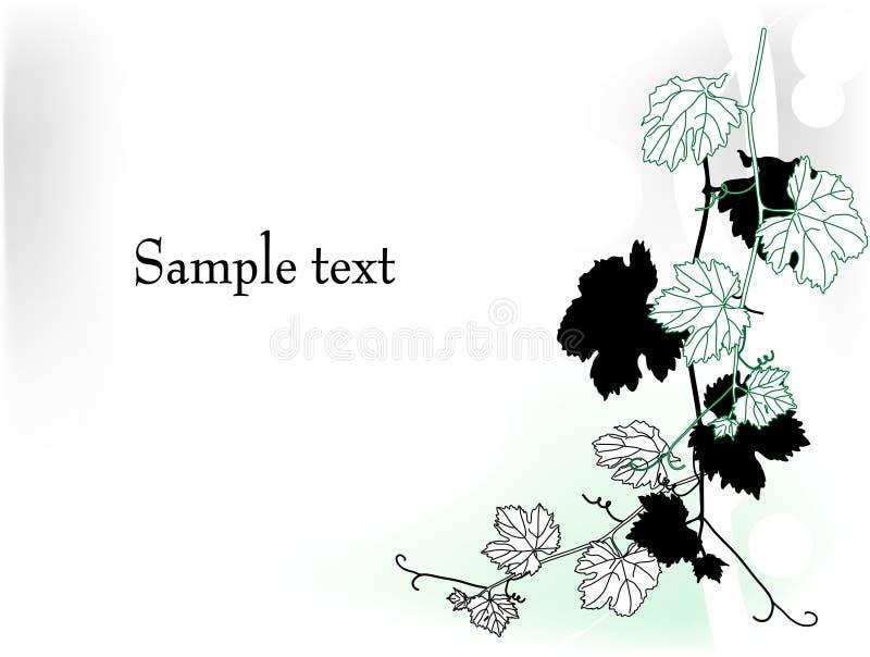 Frame met wijnstok vector illustratie