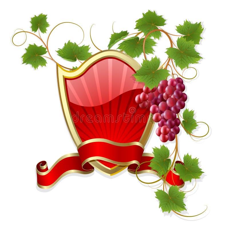 Frame met wijnstok stock illustratie
