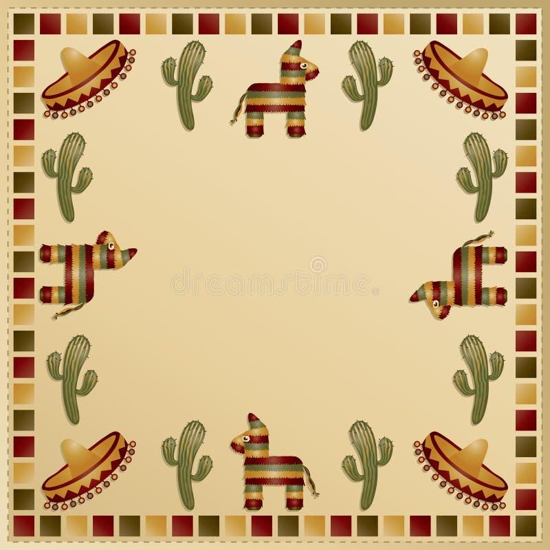 Frame mexicano ilustração do vetor