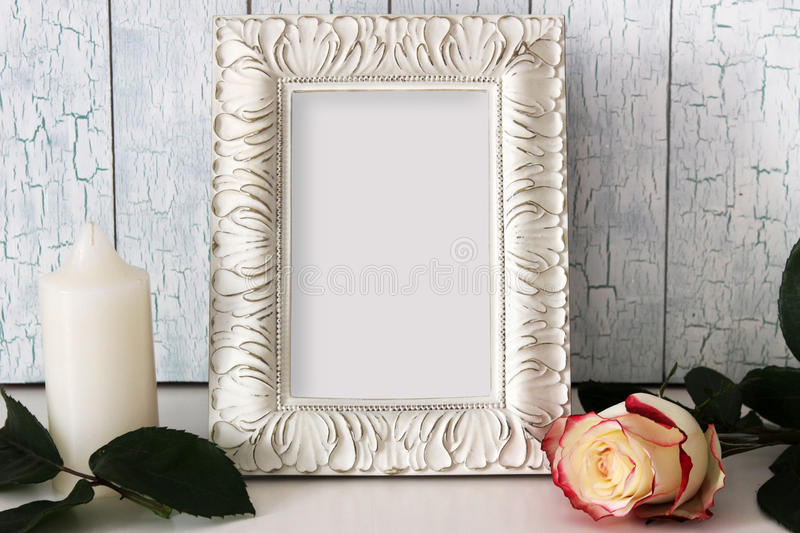 Frame Mockup with empty place for text or picture. royalty free stock photography