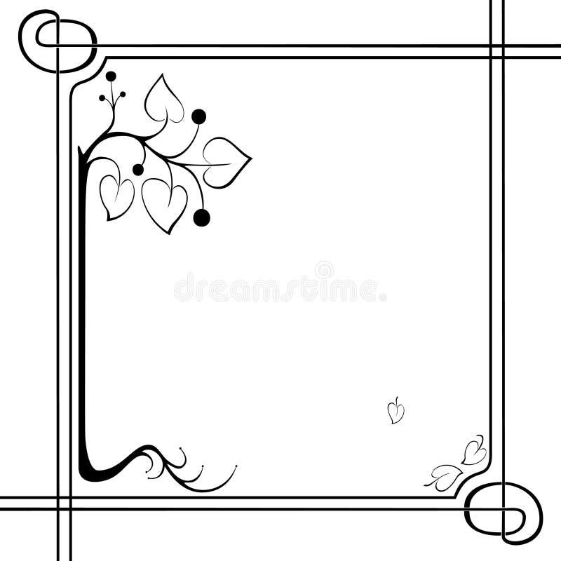 Frame modern stylized stock illustration