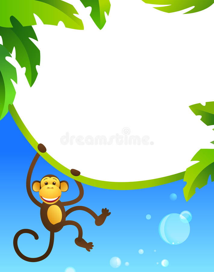 Download Frame with monkey stock vector. Image of nature, safari - 24664951