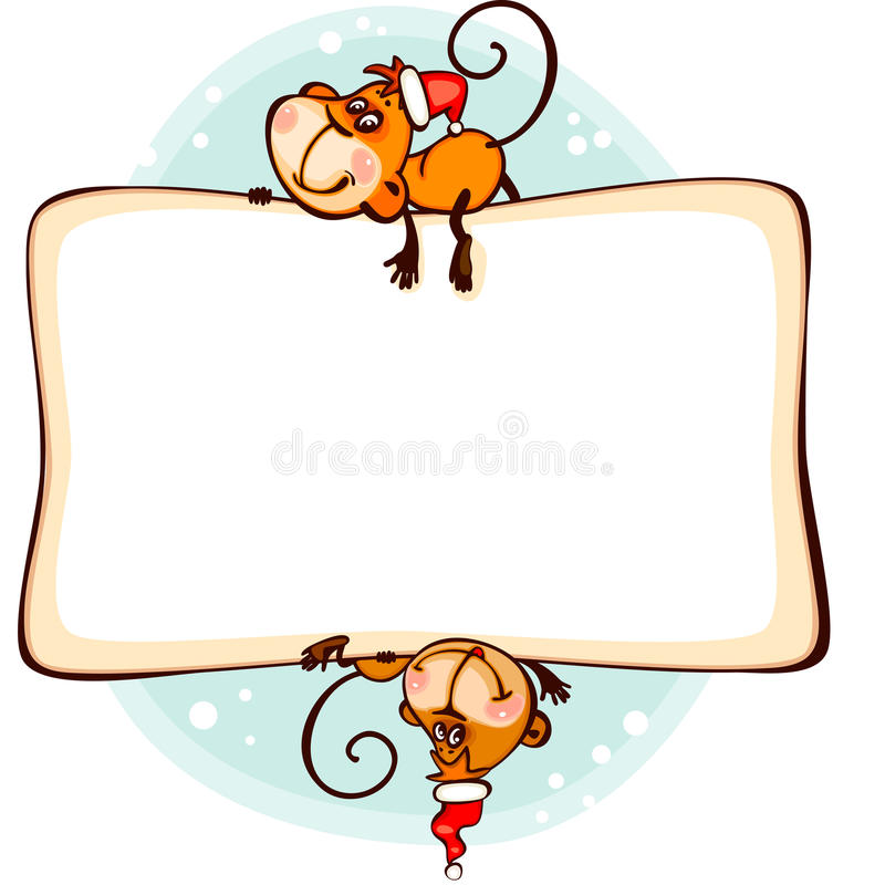download frame 2016 monkey stock vector image of holiday background 61569527 - Monkey Picture Frame