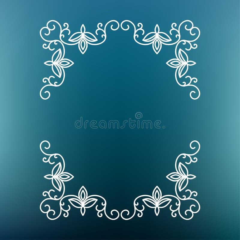 Frame mono line. Vector mono line frame. Art deco monogram design template stock illustration