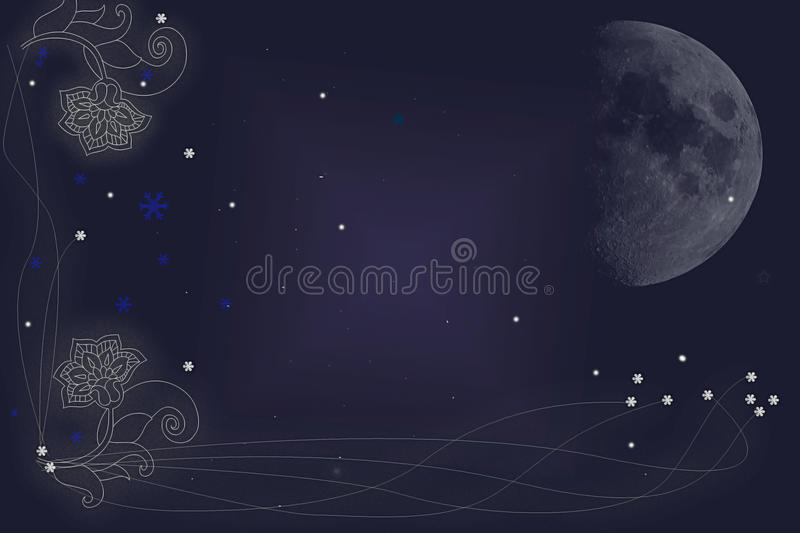 Download Frame with moon stock illustration. Illustration of abstract - 12224742