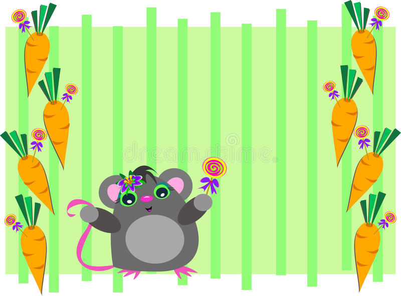 Download Frame Of Mouse With Carrots Stock Vector - Image: 32977181