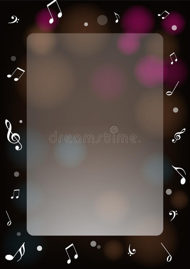 Frame with music notes royalty free illustration