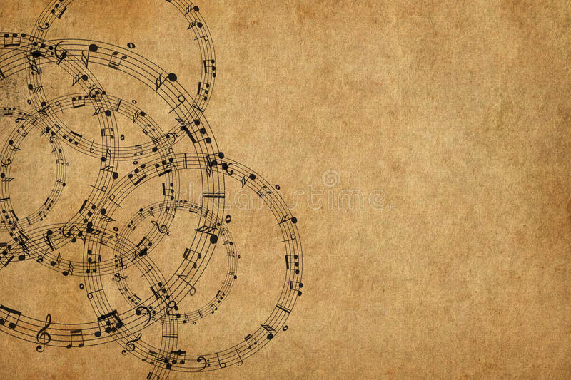 Frame with music notes background royalty free illustration