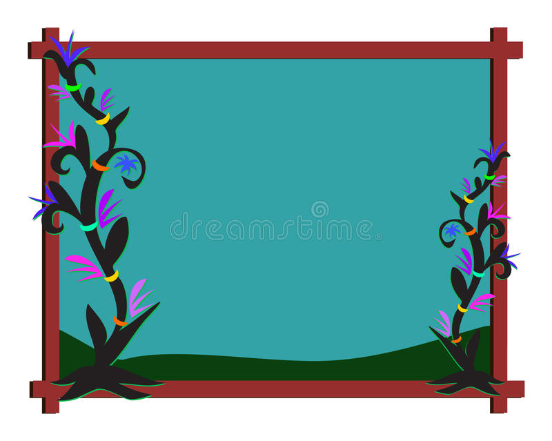 Download Frame of Night Plants stock vector. Image of plants, illustration - 20371083