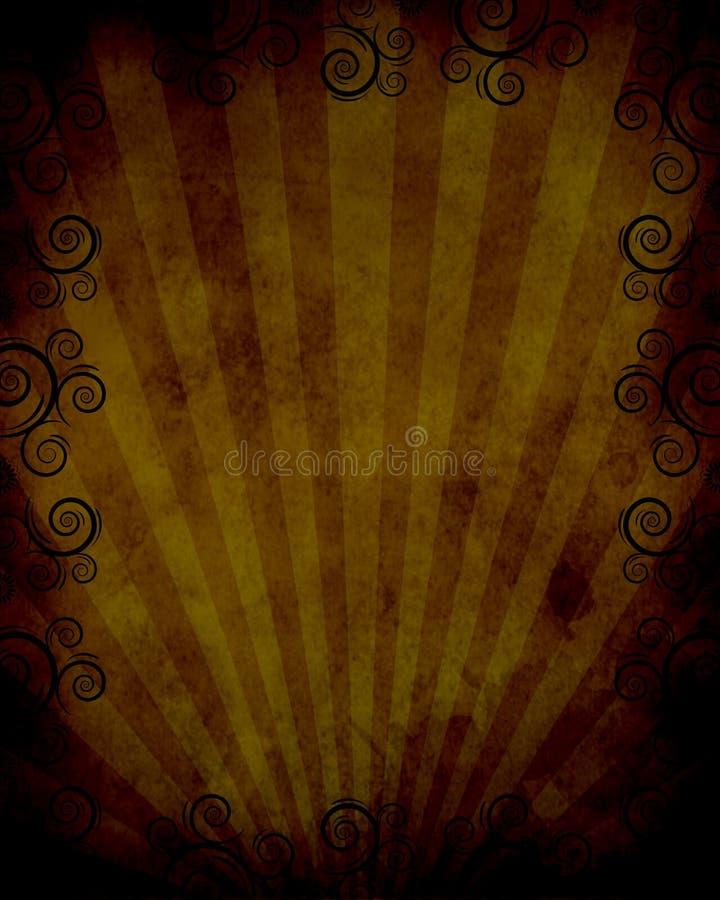 Frame ocidental com twirls ilustração royalty free