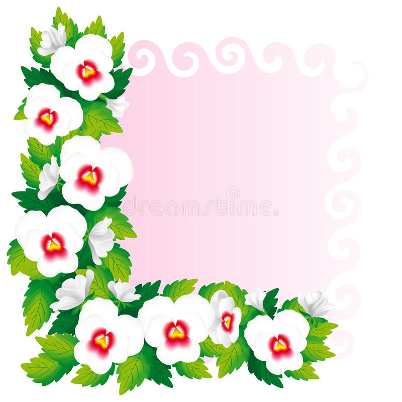 Free Frame Of Pansies Royalty Free Stock Photography - 28843857