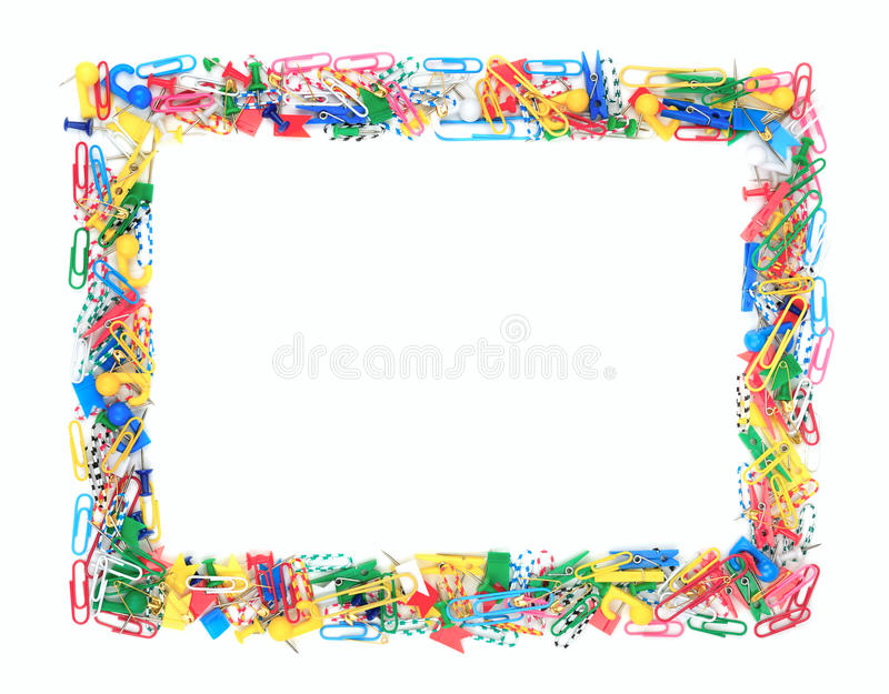 Frame Of Office Supplies Stock Photo Image Of Frame 25276266