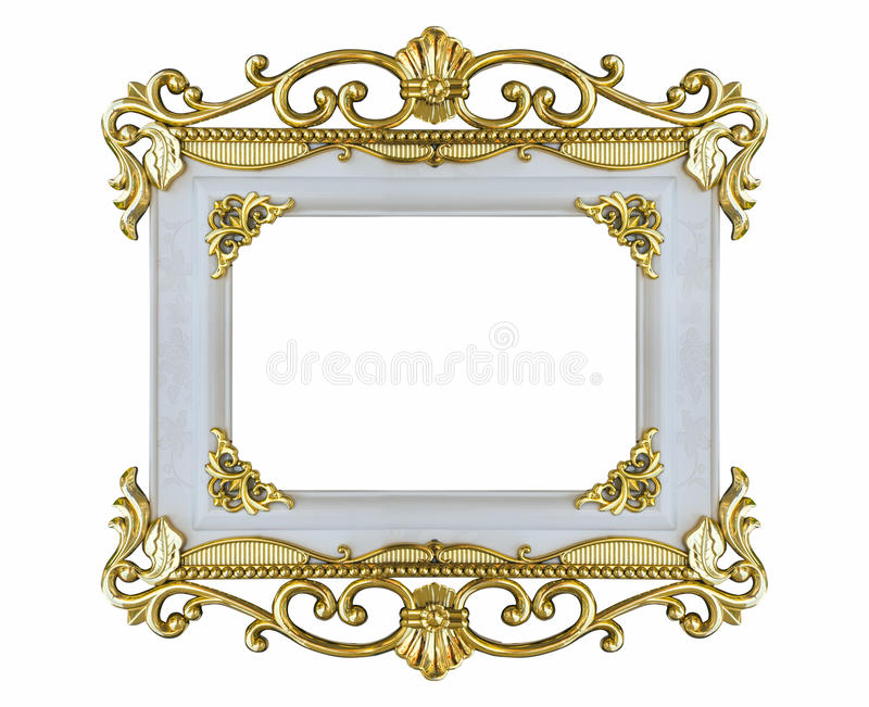 Frame old design stucco vintage isolated white bakcground. Frame old design stucco vintage isolated white bakcground stock illustration