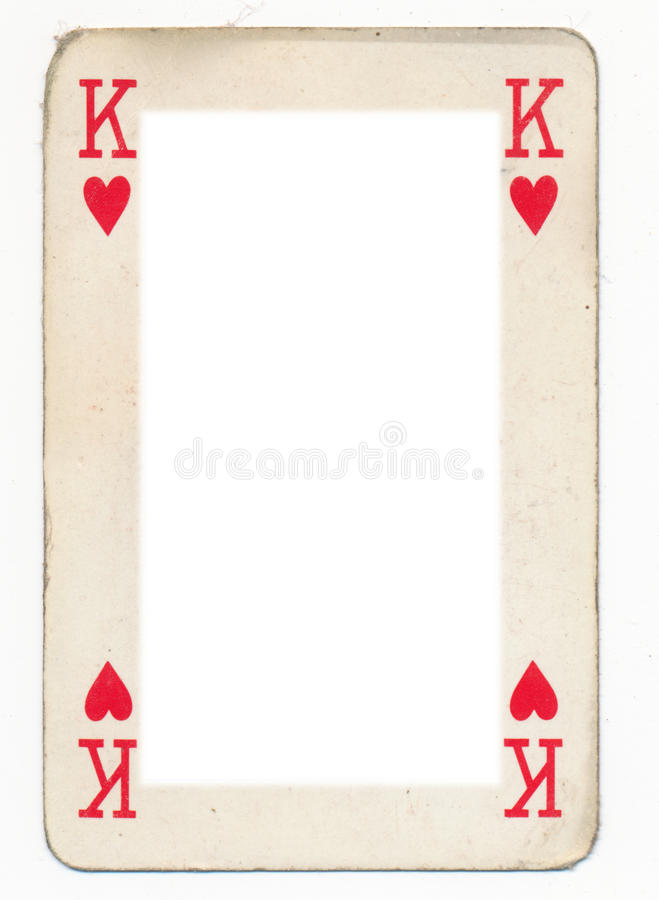 Frame From Old King Of Heart Playing Card Stock Image - Image of ...