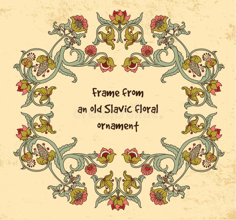 Free Frame Old Slavic Floral Vintage Ornament Grange Background. Royalty Free Stock Photo - 98436585