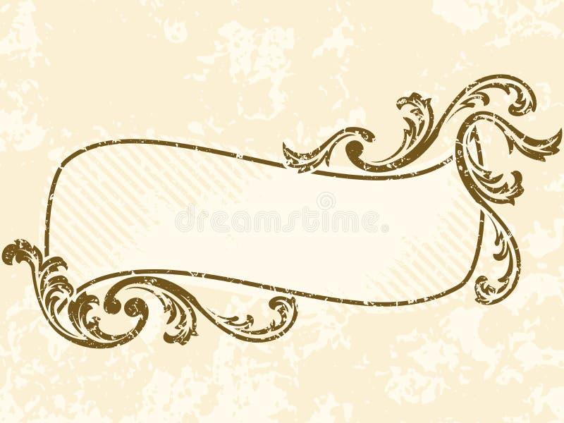 Frame ondulado sujo do sepia do vintage ilustração royalty free
