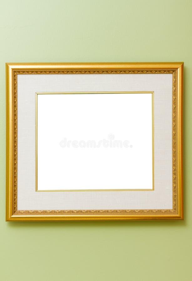 Frame op muur royalty-vrije stock afbeeldingen
