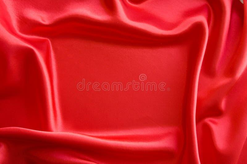 Frame op rood satijn stock afbeelding