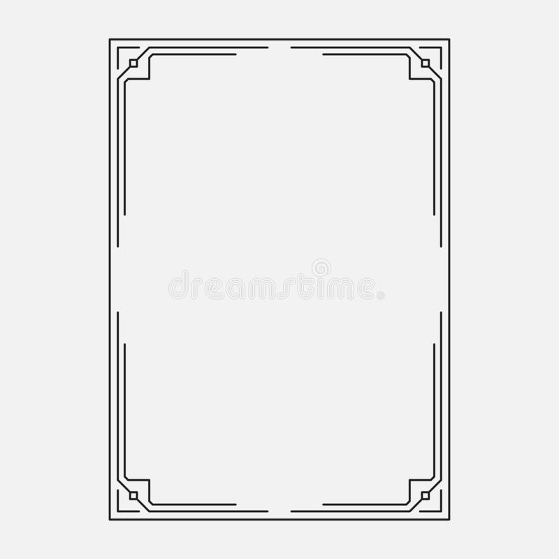 Decorative ornamental frame, original stile stock illustration