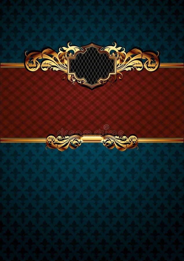Frame ornamentado ilustração stock