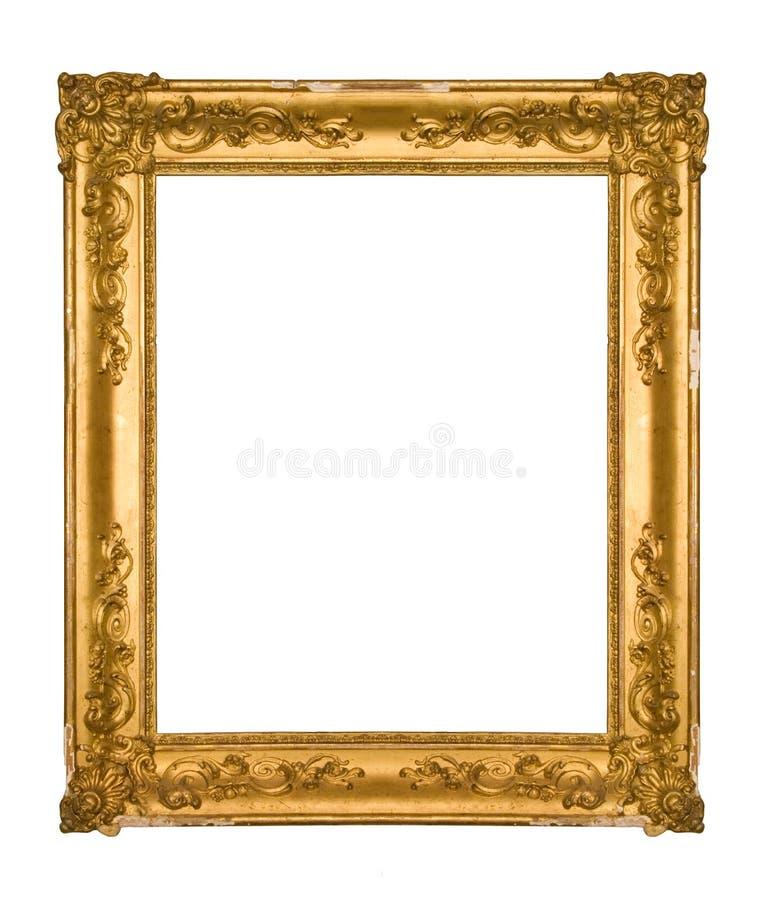 Frame ornamentado lascado do ouro do vintage imagem de stock royalty free