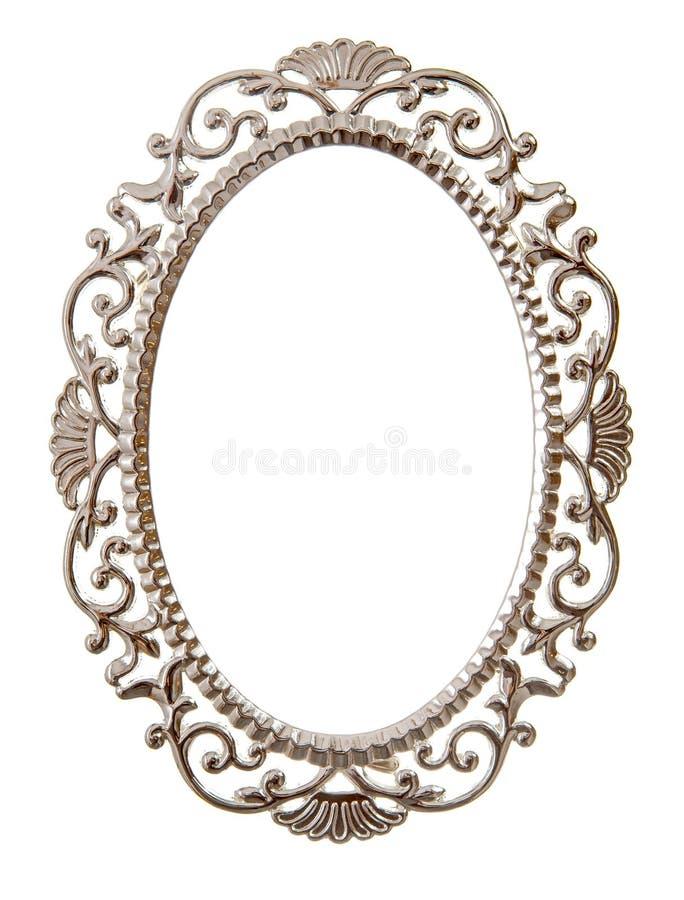 Frame ornamentado oval imagens de stock