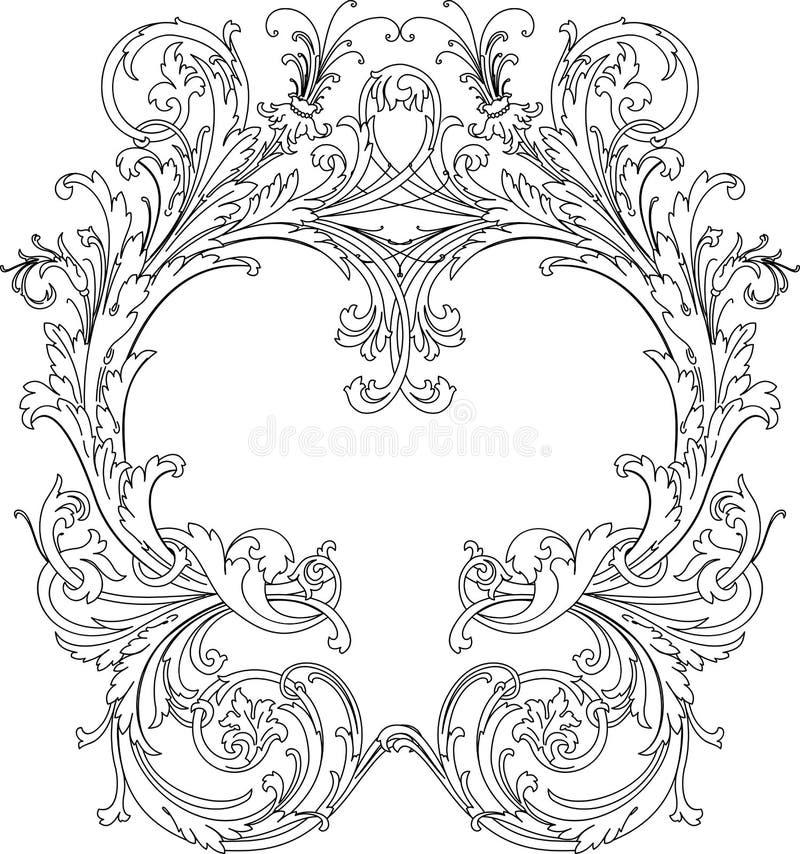 Frame ornamentado real