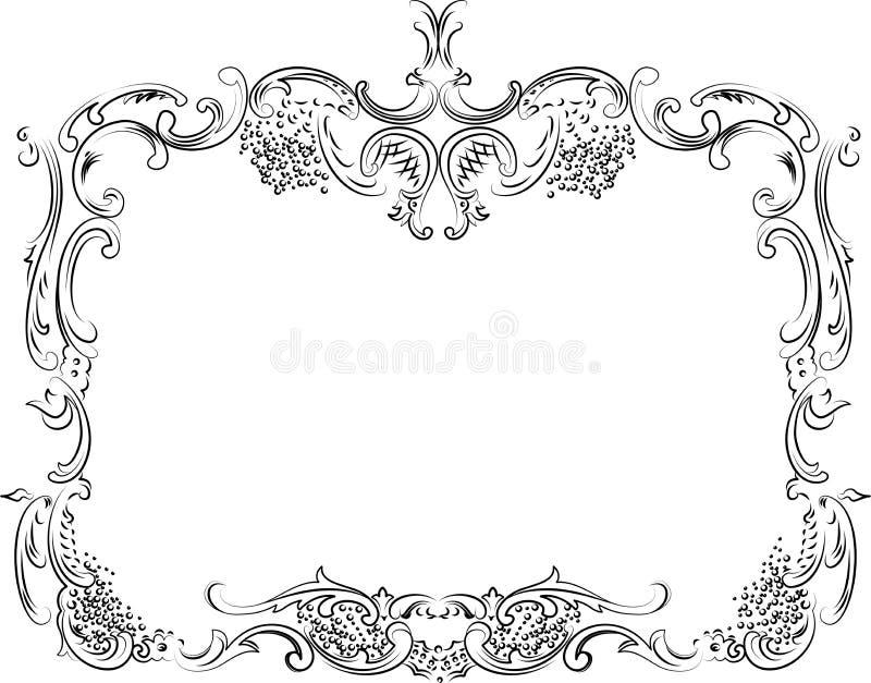 Frame ornamentado real da caligrafia ilustração royalty free