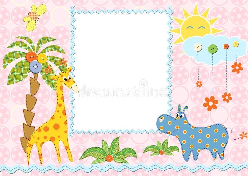 Frame ou cartão do bebê ilustração royalty free