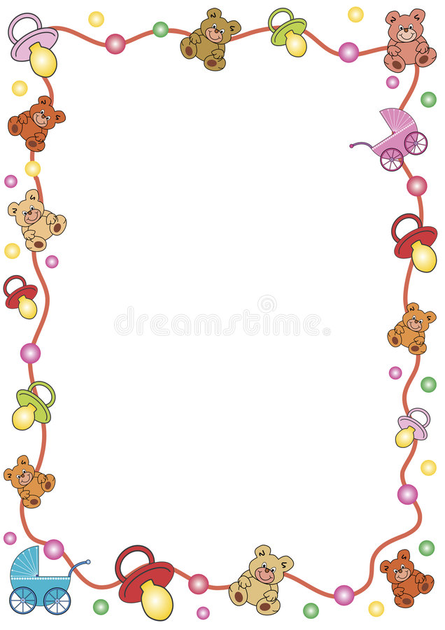 Frame out of toys stock images