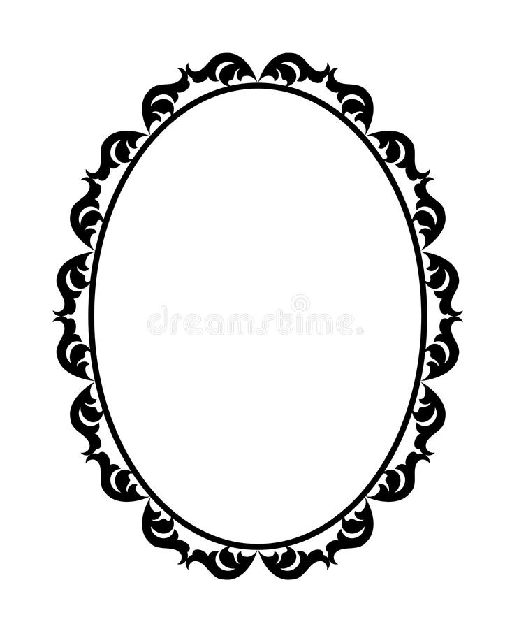 Download Frame oval stock vector. Image of ornaments, artistic - 23889851