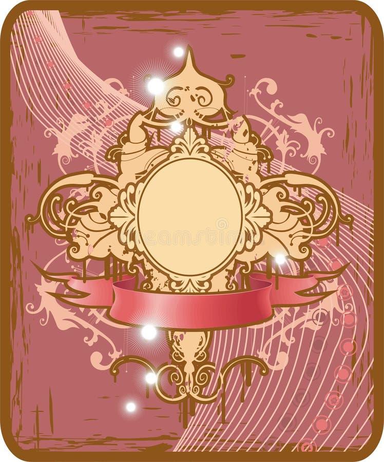 Frame oval do encanto ilustração do vetor