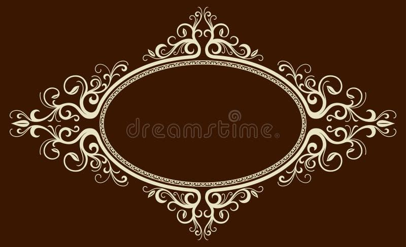 Frame oval do vintage ilustração stock