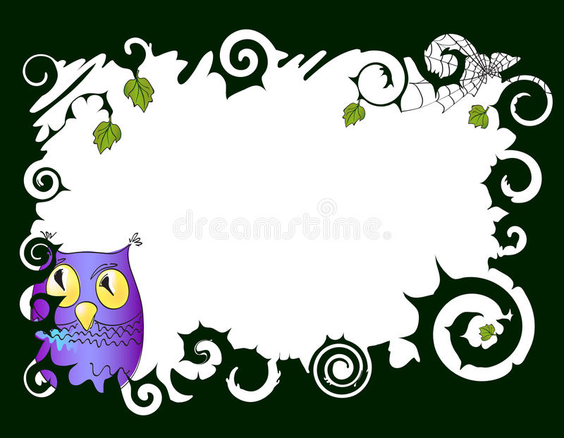 Download Frame with owl stock illustration. Illustration of illustration - 16448831