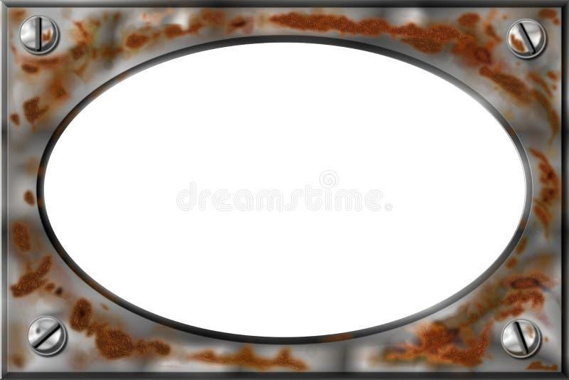 Frame oxidado do metal, Bitmap ilustração stock