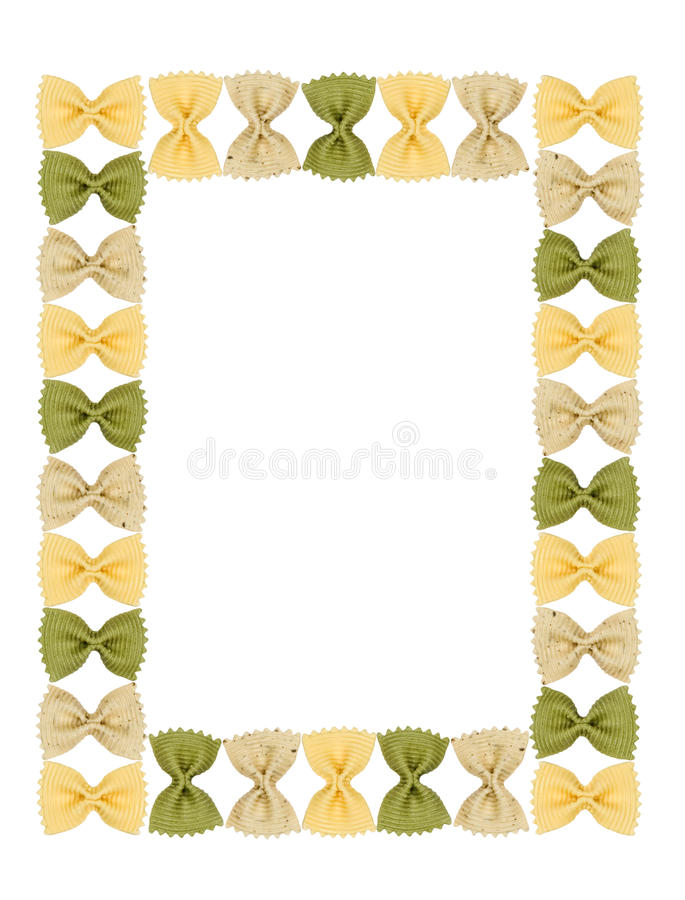 Download Frame Pasta Similar To A Butterfly. Stock Image - Image of beige, green: 13116333