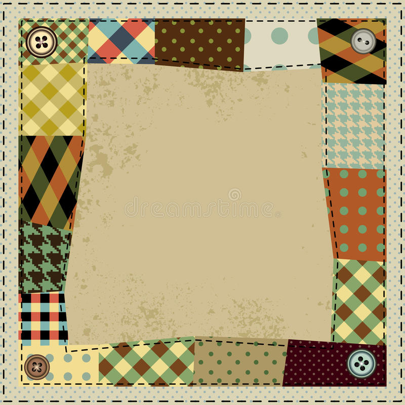 Frame in patchwork style royalty free illustration