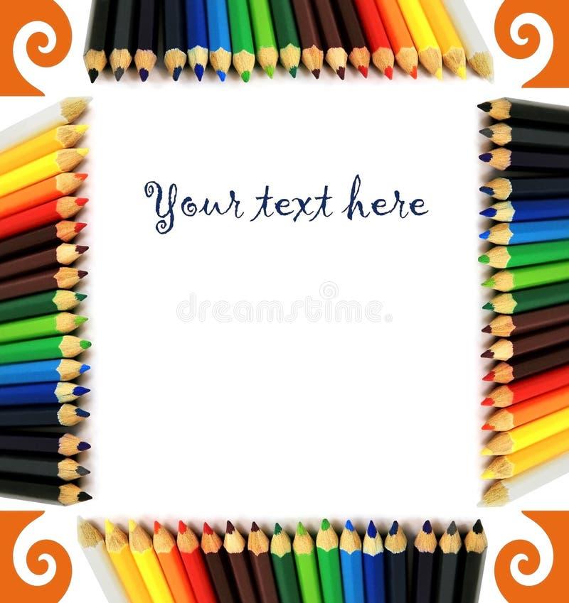 Frame of pencils vector illustration