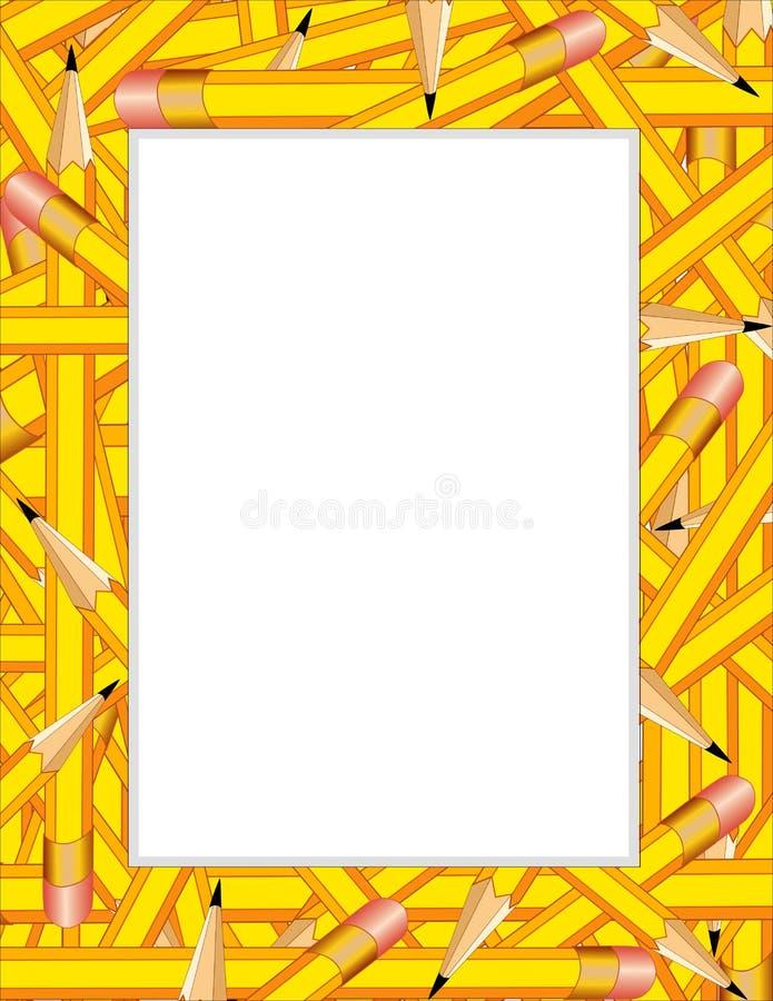 frame pencils yellow бесплатная иллюстрация