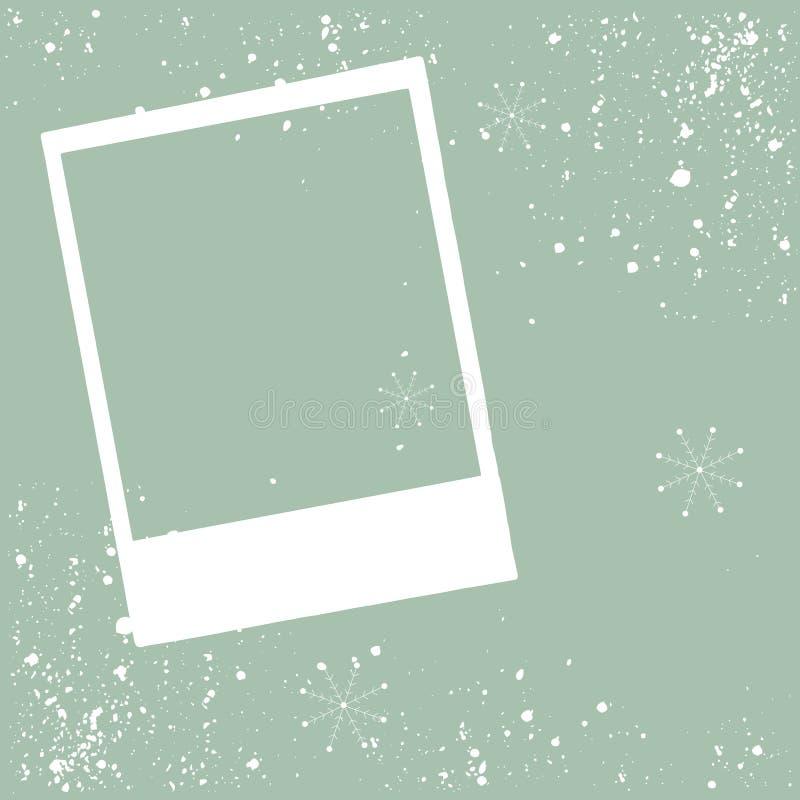 Frame photo christmas border design vector. Illustration vector illustration