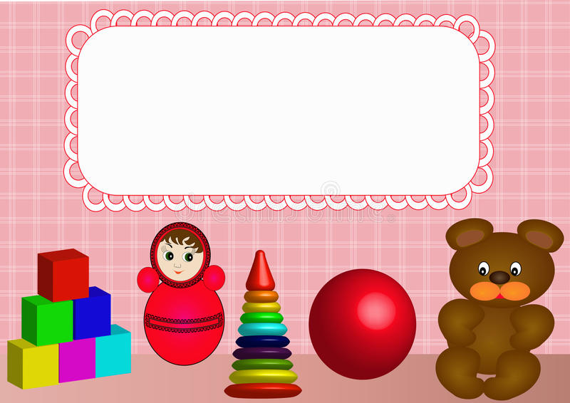 Download Frame for photo nursery stock vector. Illustration of cute - 16532076