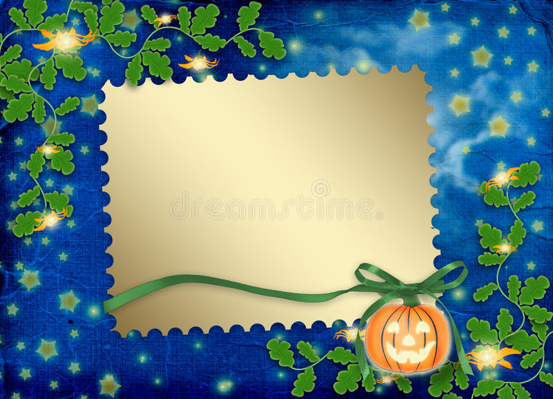 Download Frame For Photo With Pumpkin And Flowers Stock Illustration - Image: 11276841