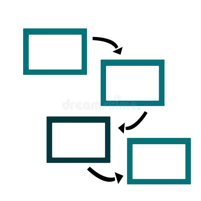 Frame for photo or text with arrows royalty free illustration